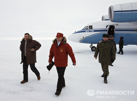 Putin and the polar bear on Franz Josef Land