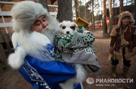 Russia Father Frost and his foreign 'counterparts'