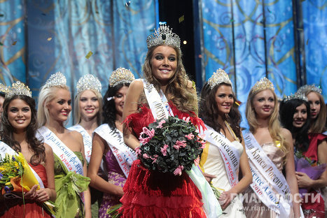Beauty of Russia 2010 pageant winner and her rivals
