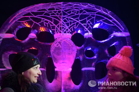 Europe's biggest ice sculpture museum in Moscow