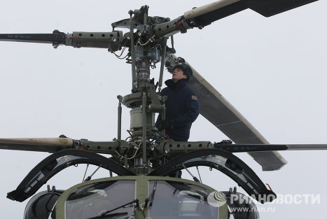 Russia's Ka-52 Alligator attack helicopter