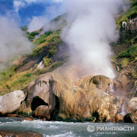 Kamchatka unique Geyser Valley