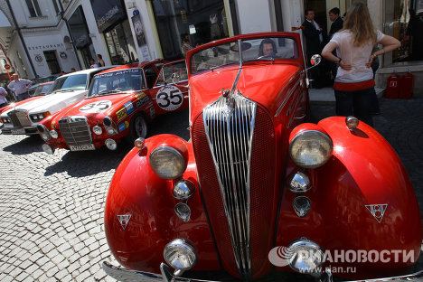 Vintage cars in weekend rally