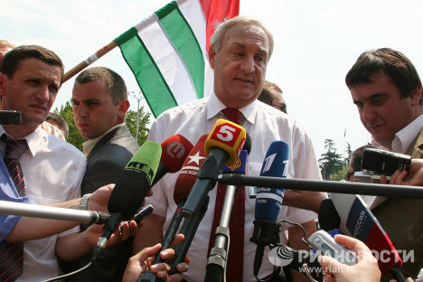 Abkhaz President Sergei Bagapsh and key points of Abkhazia's modern history