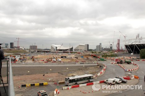 London's Olympic Park: One year to go