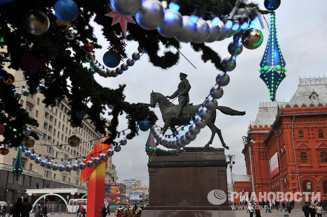 Central Moscow looks forward to New Year
