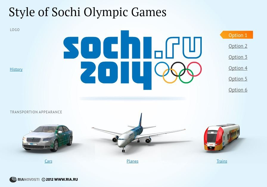 Style of Sochi Olympic Games