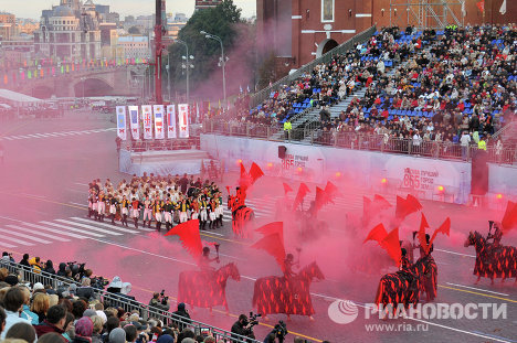 International Military Music Festival Spasskaya Tower Opens in Moscow