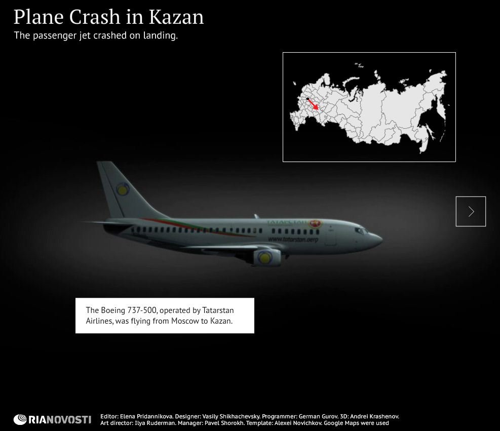 Reconstructing the Kazan Plane Crash