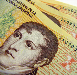 $10 Argentine Peso bills in sequence