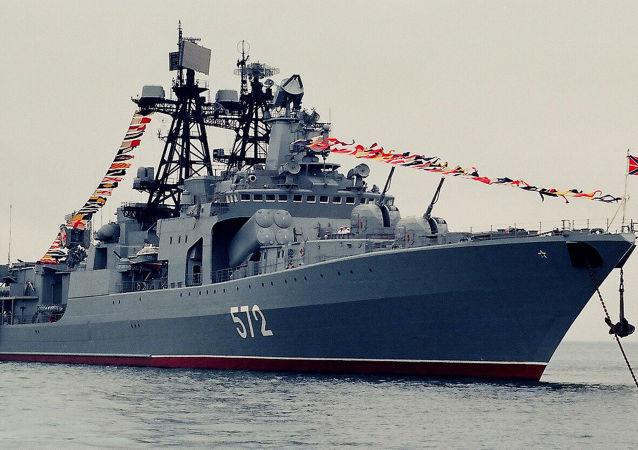 Russian Udaloy-class destroyer Admiral Vinogradov