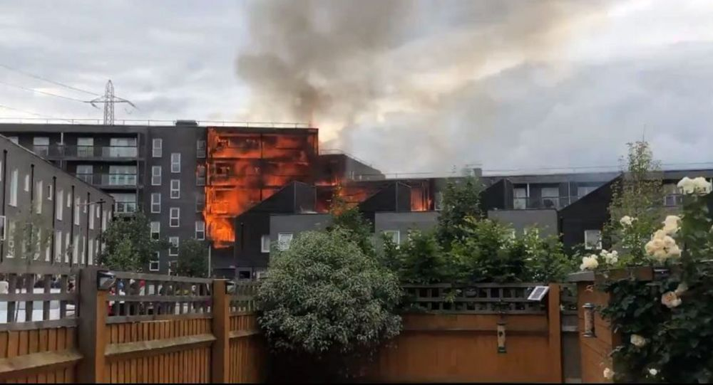 Blaze at Block of Flats in London