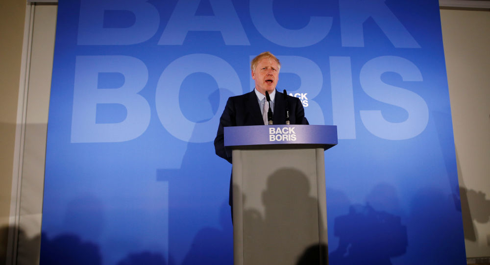 Conservative Party leadership candidate Boris Johnson speaks during the launch of his campaign in London, Britain on 12 June 2019.