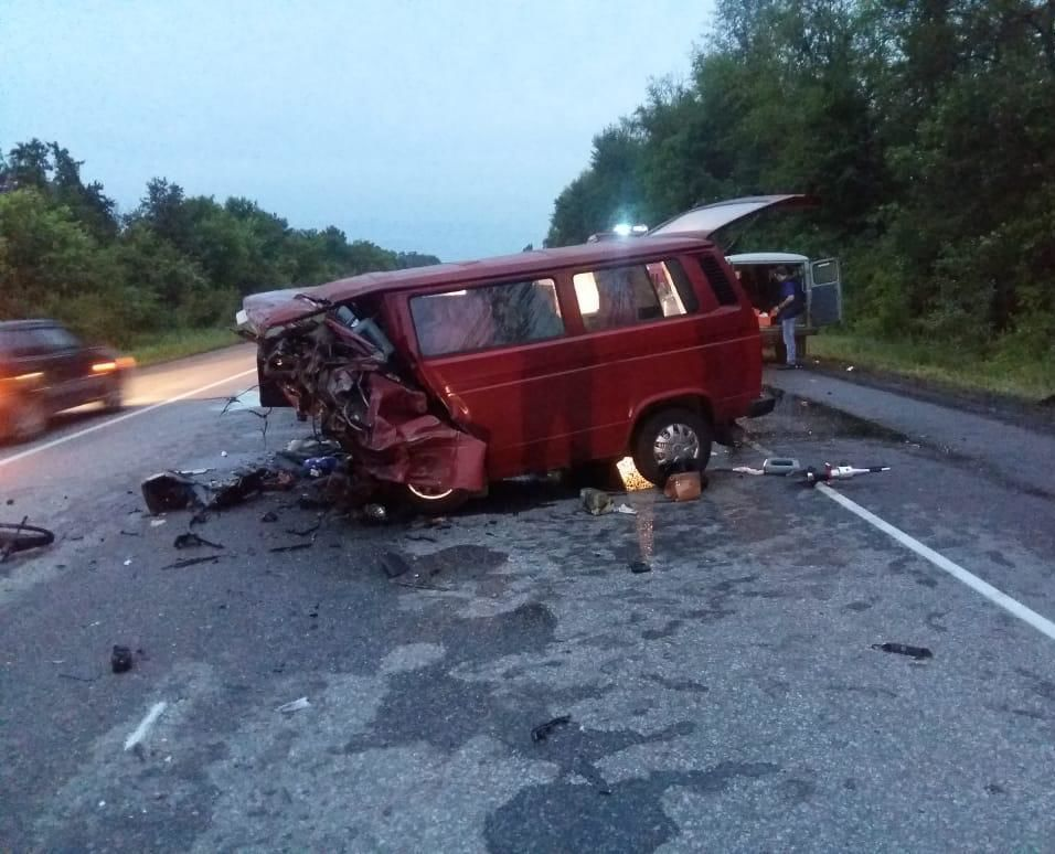 Van crashed in Russia's Voronezh region