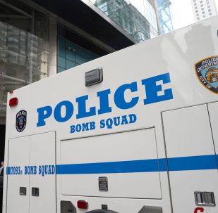 US police bomb squad car