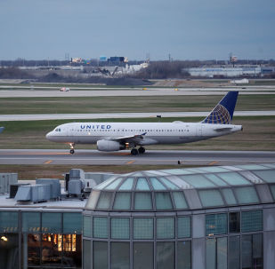 A United Airline Airbus A320 aircraft lands at O'Hare International Airport in Chicago, Illinois, U.S., April 11, 2017.