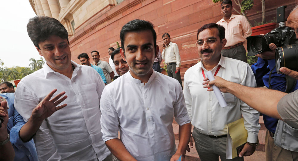 Former Indian cricketer and newly elected member of India's ruling Bharatiya Janata Party (BJP) Gautam Gambhir arrives to attend the opening day of the Parliament session in New Delhi, India, June 17, 2019