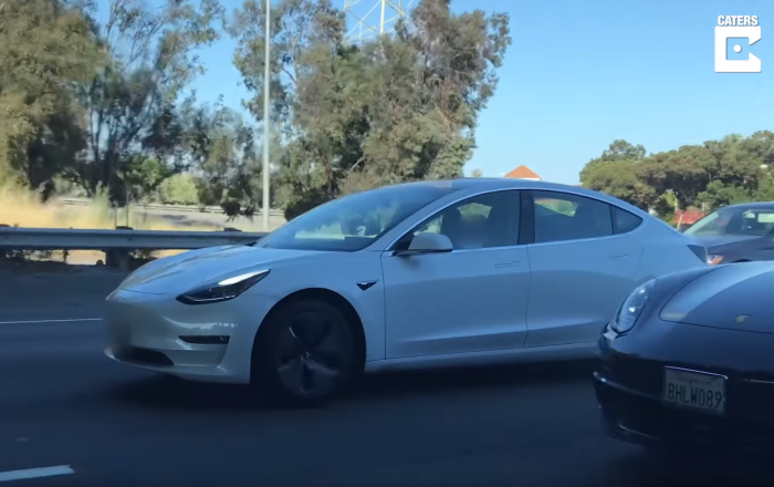US Man Naps in Tesla Model S During Rush Hour