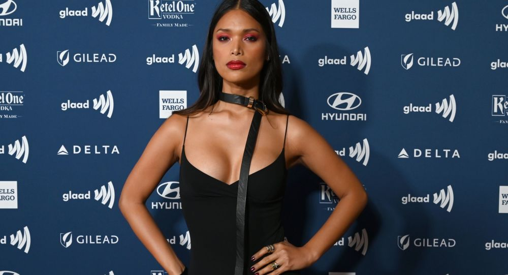 Filipino-US supermodel Geena Rocero arrives to the 30th Annual GLAAD Media Awards in New York on May 4, 2019, to honor media for fair, accurate, and inclusive representations of LGBTQ people and issues