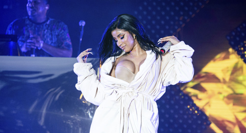Cardi B performs at the Bonnaroo Music and Arts Festival on Sunday, June 16, 2019, in Manchester, Tenn