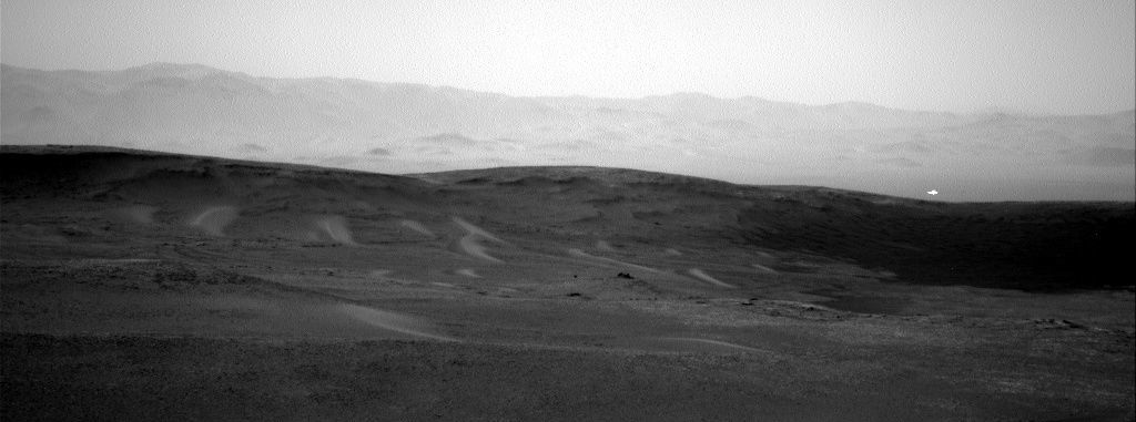 This image was taken by Navcam: Right B (NAV_RIGHT_B) onboard NASA's Mars rover Curiosity on Sol 2438 (2019-06-16 03:53:59 UTC).