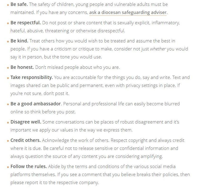 Church of England Social Media Charter