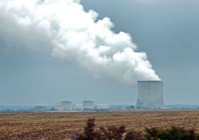 Fume from Cooling towers of nuclear power plants in France