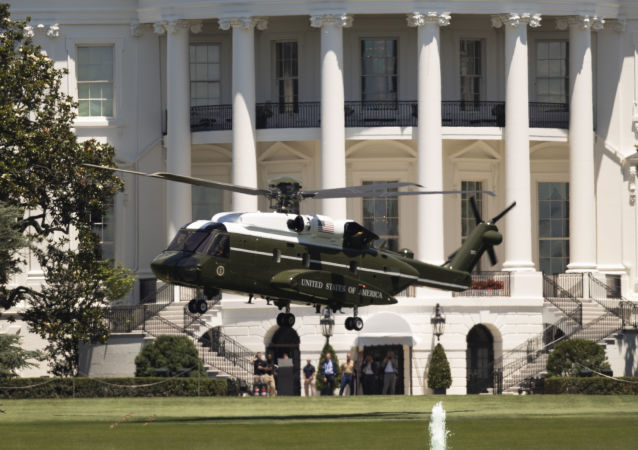 The new Presidential VH-92 helicopter takes off from the South Lawn of the White House in Washington, Friday, June 14, 2019