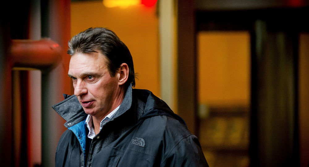 Dutch criminal Willem Holleeder arrives at court in 2014, accused of threatening Dutch crime reporter Peter de Vries