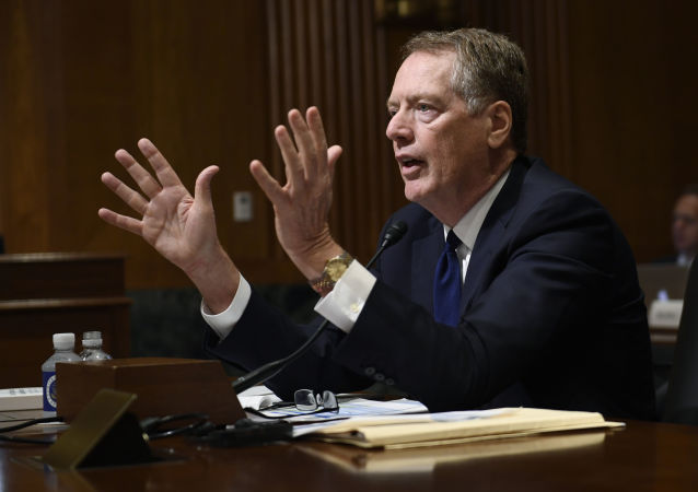 United States Trade Representative Robert Lighthizer testifies before the Senate Finance Committee on Capitol Hill in Washington, Tuesday, June 18, 2019