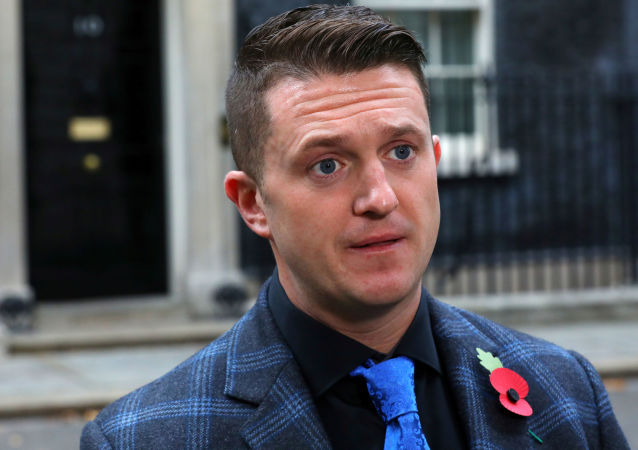 Activist Stephen Activist Stephen Yaxley-Lennon, who goes by the name Tommy Robinson, speaks outside 10 Downing Street in London, BritainYaxley-Lennon, who goes by the name Tommy Robinson, speaks outside 10 Downing Street in London, Britain