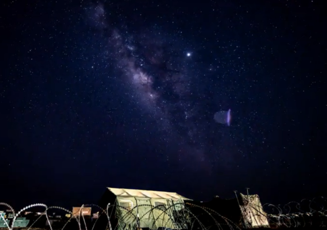 US service member films timelapse video of Milky Way on US airbase in Niger