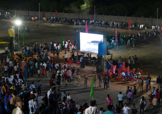 Spectators leave a viewing gallery after India's second lunar mission, Chandrayaan-2, was called off, in Sriharikota, India, July 15, 2019