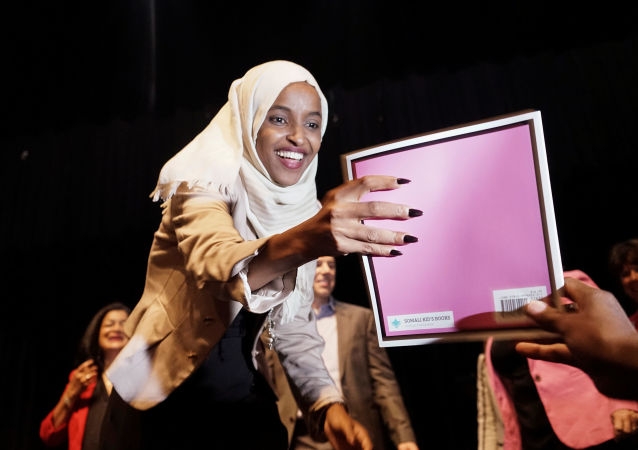 U.S. Representatives Ilhan Omar (D-MN) and Pramila Jayapal (D-WA) host a Town Hall meeting on Medicare For All in Minneapolis, Minnesota, U.S., July 18, 2019