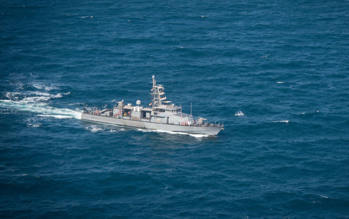 Patrol craft USS Squall (PC 7) as it transits in the Gulf on 14 January 2015 (File)