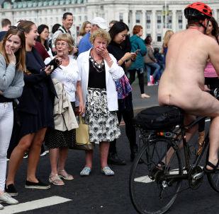 World Naked Bike Ride in London, 11 June 2011.