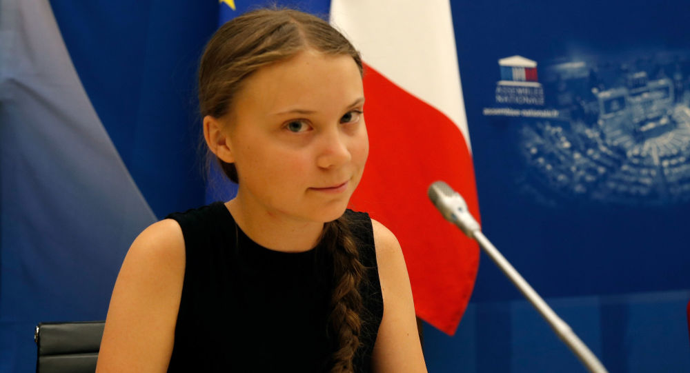 Swedish environmental activist Greta Thunberg attends a debate with French parliament members at the National Assembly in Paris, France, July 23, 2019
