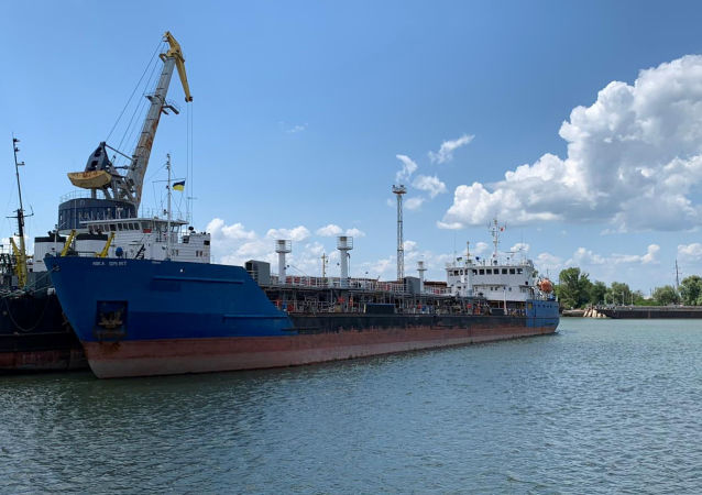A view shows the Russian tanker, now called Nika Spirit and formerly named Neyma, which was detained by the Ukrainian security service in the port of Izmail, Ukraine in this handout picture obtained by Reuters on July 25, 2019