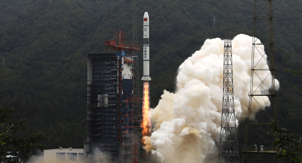 A Long March-2C carrier rocket carrying Yaogan-30 satellites lifts off from the Xichang Satellite Launch Center, Sichuan province, China 26, July 2019