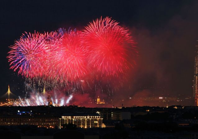 Fireworks in Saint Petersburg