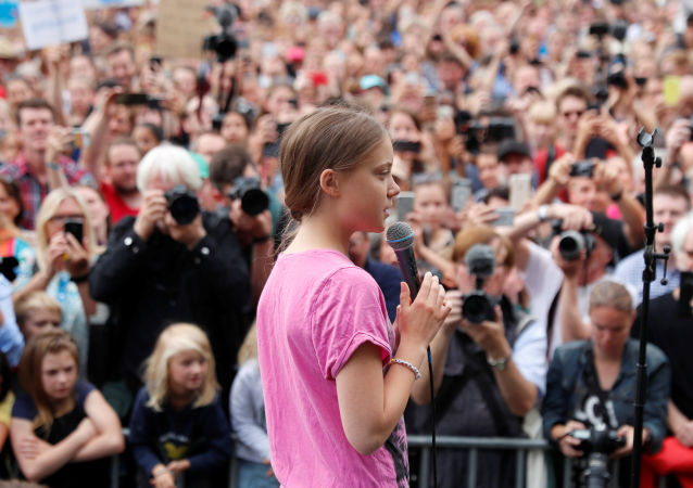 Swedish environmental activist Greta Thunberg attends Fridays for Future protest, claiming for urgent measures to combat climate change, in Berlin, Germany, July 19, 2019