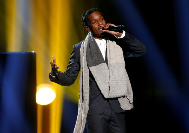 A$AP Rocky performs I'm Not the Only One with Sam Smith (not pictured) during the 42nd American Music Awards in Los Angeles, California November 23, 2014