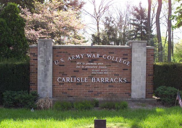 The main entrance sign to Carlisle Barracks and the U.S. Army War College
