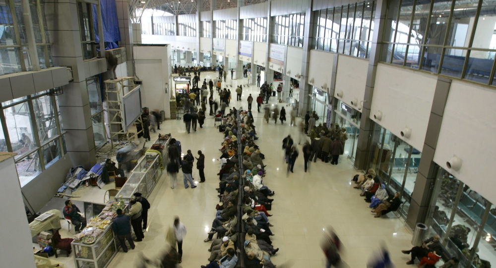 Passengers sit as they wait for their respective flights inside the newly constructed international airport in Srinagar, India (File)