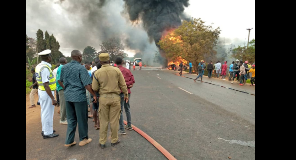 Fuel tanker explosion in Tanzania kills over 57 people. 10 August, 2019