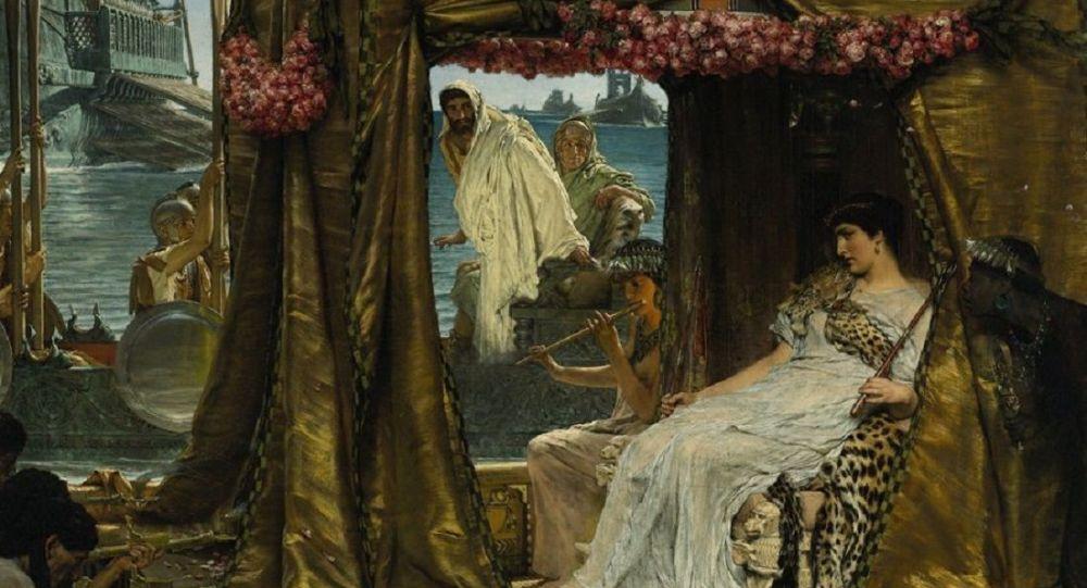 The Meeting of Antony and Cleopatra by Lawrence Alma-Tadema