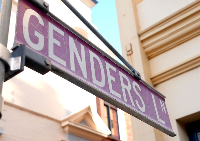 A road sign reading 'Genders Lane'