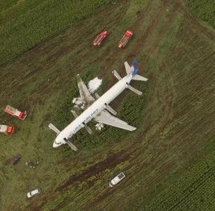 A321 emergency landing in the Moscow region