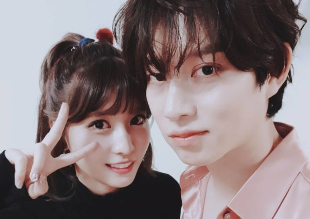 Kim Heechul and Momo