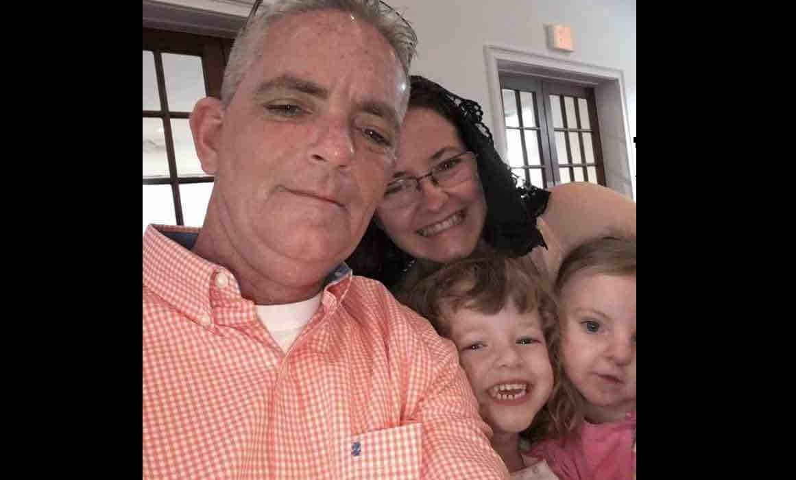 David Ireland, Jody Ireland, and their two daughters, aged 4 and 7
